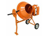 Wolf 50L Concrete Mixer 375w Electric Cement Mortar Plaster Sand Mixer Portable