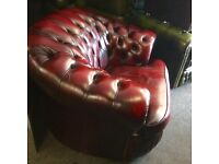 3 X piece leather Chesterfield suite