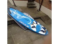 Starboard Carve 131 Windsurfer including Cover /Nose Protector and Fin As New