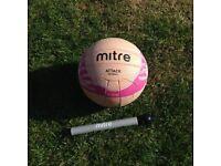 Pink Mitre Attack Netball & High Speed Ball Pump