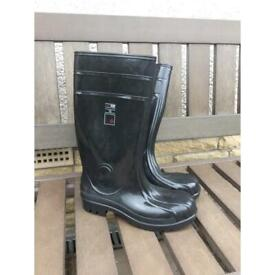 Steel Toecap Wellington Boots Size 9