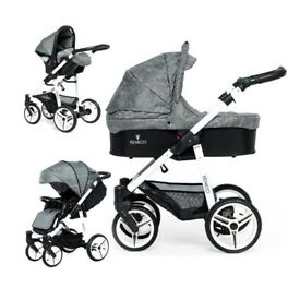 Venicci pram, 3 in 1 travel system, 8 months old, RRP £549