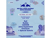 1x Ticket for Syd, IAMDDB, Buddy - RBMA Paths Unknown Red Bull Music Academy