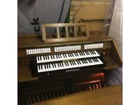 ELECTRIC ORGAN, BENCH SEAT AND MUSIC STAND FOR SALE