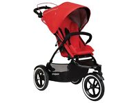 Brand new Phil and Ted Navigator Pram with travel cot and adapters