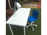 Ikea desk & lamp & chair