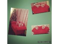 3 and 2 seater red sofa for sale