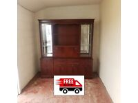 Wooden display unit with drink cabinet (free delivery)