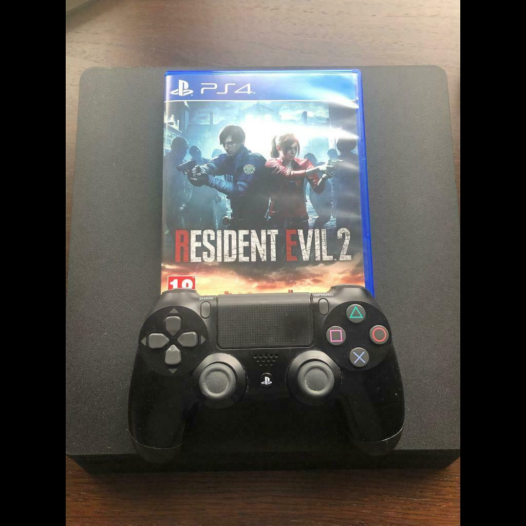 PS4 Slim 500GB with Resident Evil 2   in Glasgow City Centre, Glasgow    Gumtree