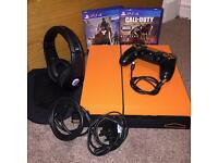 Custom Carbon Fibre PS4 500GB With Monster Headset & Games
