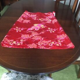 Diva Vintage Red Silk Skirt.