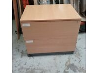Beech effect hanging file drawers