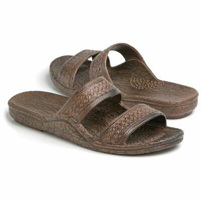 Pali Hawaii Unisex Hawaiian Jesus Jandal Brown Slip On Waterproof Sandals