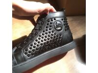 Christian Louboutin Spiked Trainer Shoes Black