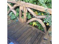 Garden Bench Teak Ox Cart