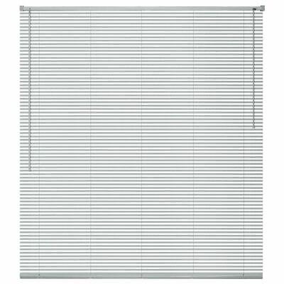 vidaXL Persiana de Aluminio PVC 140x160cm Plateada Veneciana Cortinas Accesorios