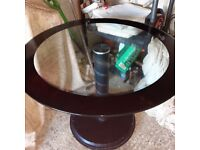 Black glass kitchen table