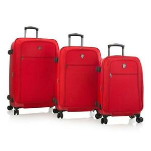 "Stratos Hybrid Spinner Luggage 3 pc. Set - 21"", 26"" & 30"" [Red]"