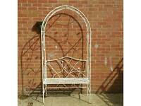 Arch vintage cast iron bench