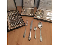 8 person silver plate cutlery set