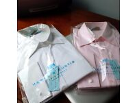Shirts, Hawes & Curtis, 2 NEW with Tags, Size 18, City - Office Shirts in Pink & White