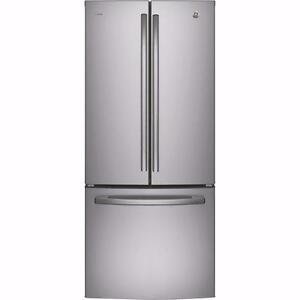 Réfrigérateur GE 30 po, 20.8 pi. cu.,Distributeur d'eau interne, Machine à glaçons, stainless, (SKU :1423)