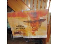 Clint Eastwood original cinema poster Pale Rider