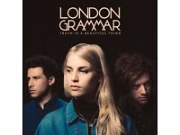 2x London Grammar standing tickets, Hammersmith Apollo London, Saturday 21st October 2017