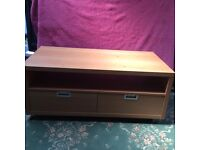 Tv unit / coffee table with 2 drawers size 48 ins wide x24 ins deep x20 ins high ( buyer collect)