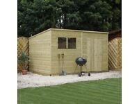 Wooden Pent Shed 12 x 8