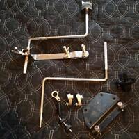 Splash cymbal branches and Iron Cobra pedal parts