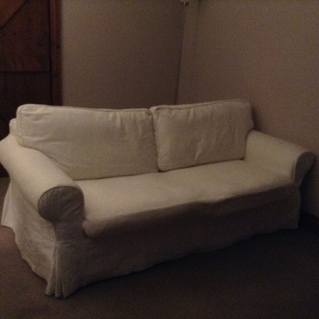 IKEA Ektorp Sofa Bed, 3-seater, Cream, Washable Covers