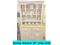Quirky vintage country dresser , shabby chic