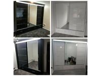 `` CASH ON DELIVERY `` NEW HIGH-GLOSS SYCYLIA WARDROBES AVAILABLE NOW IN STOCK