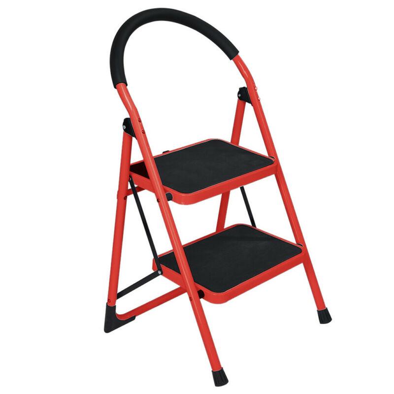Heavy Duty Anti-slip Solid Pedal Handle 2 Step Ladder Foldin
