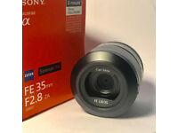 SONY Sonnar E-mount 35mm F2.8 Full Frame Lens 430 O.N.O