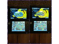 3DS XL CONSOLE (Blue) + 100 Games