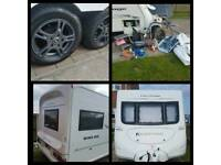 2007 Fleetwood Heritage 640-ES Twin Axle Fixed Bed Touring Caravan With Extras