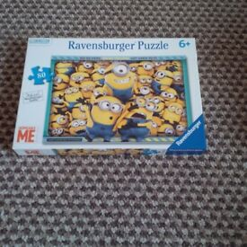 Mixture of jigsaw puzzles