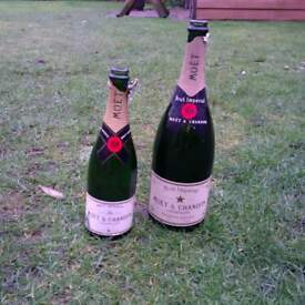moet and chandon bottles empty man cave