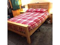 Solid Double Oak Bed - Oslo Range