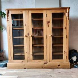 Solid pine CD display cabinet