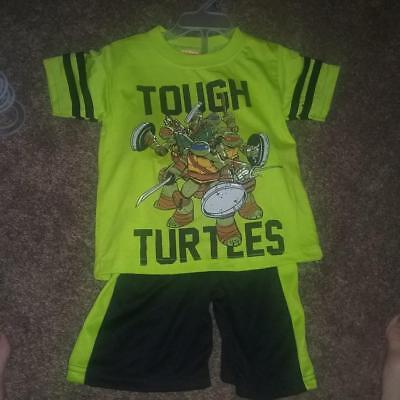 NEW BOYS KIDS TEENAGE MUTANT NINJA TURTLES 2 PIECE OUTFIT SHORTS TMNT SIZE 2T (Tmnt Outfits)