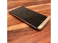 HTC ONE M8 gold with FREE elephant case!