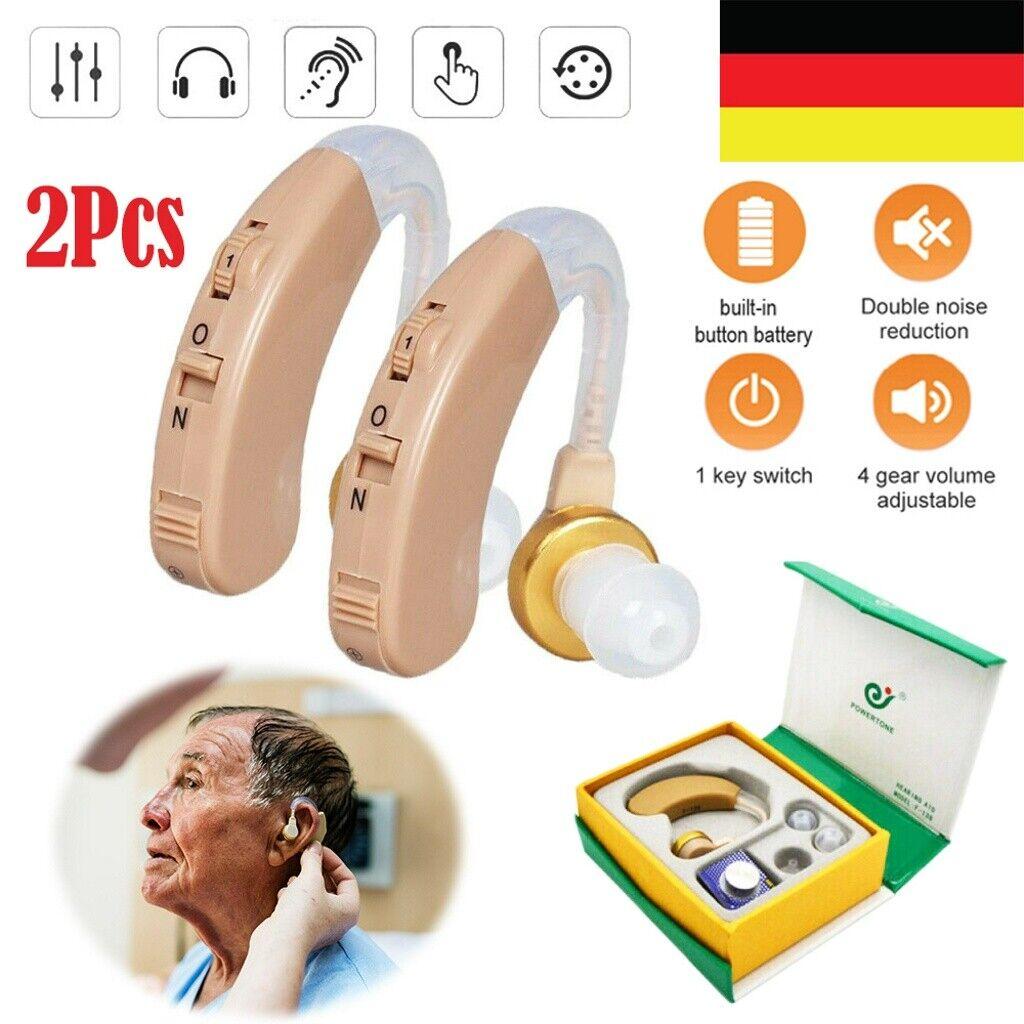 2X Digital Hörgerät Hörhilfe Hörverstärker Hörgeräte Gerät Taub Verstärker DE