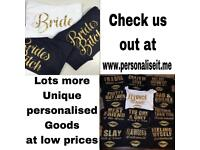 Bride and Hen Party T-shirts