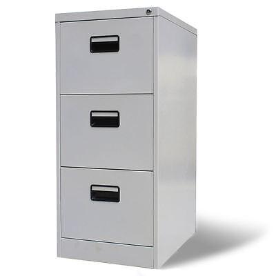 Vidaxl File Cabinet With 3 Drawer Steel 40.4 Gray Storage Organizer Container