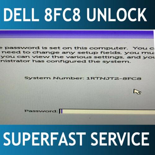Dell 8FC8 Solution BIOS password remove service.Latitude 5300 / 5400 / 7400
