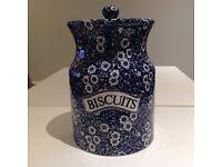 Calico Burleigh rare Biscuit Jar/barrel