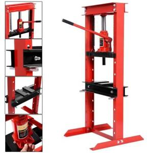 12 Ton Shop Press Floor H-Frame Press Plates Hydraulic Jack Stand Equipment  - BRAND NEW - FREE SHIPPING